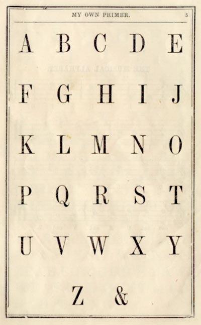 primer letters alphabet
