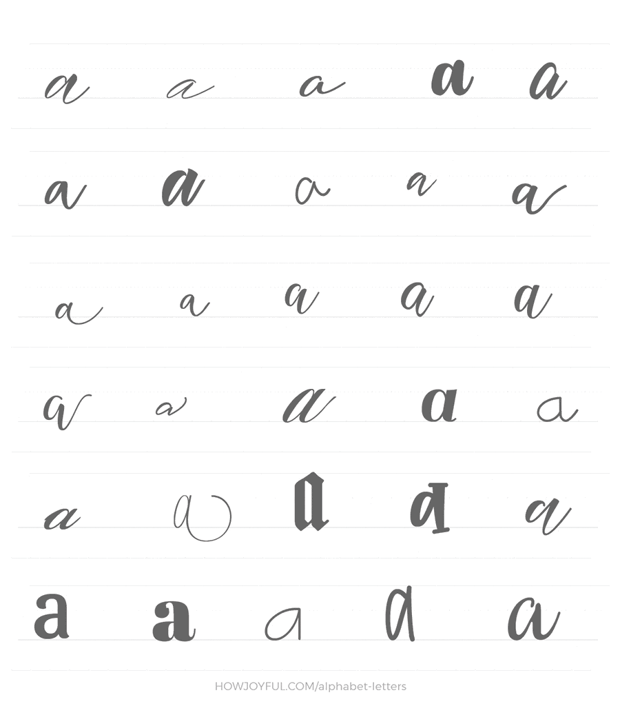 lowercase a 30 ways