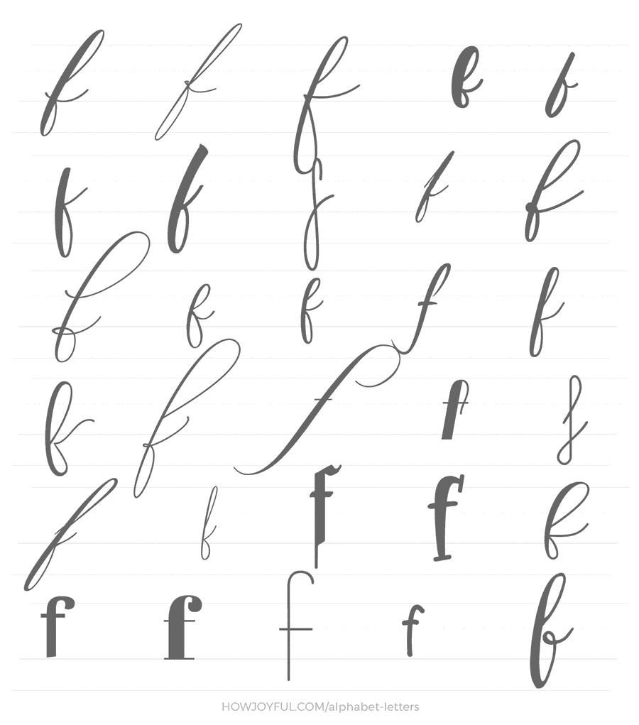 lowercase f 30 ways
