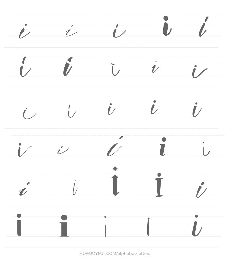 lowercase i 30 ways