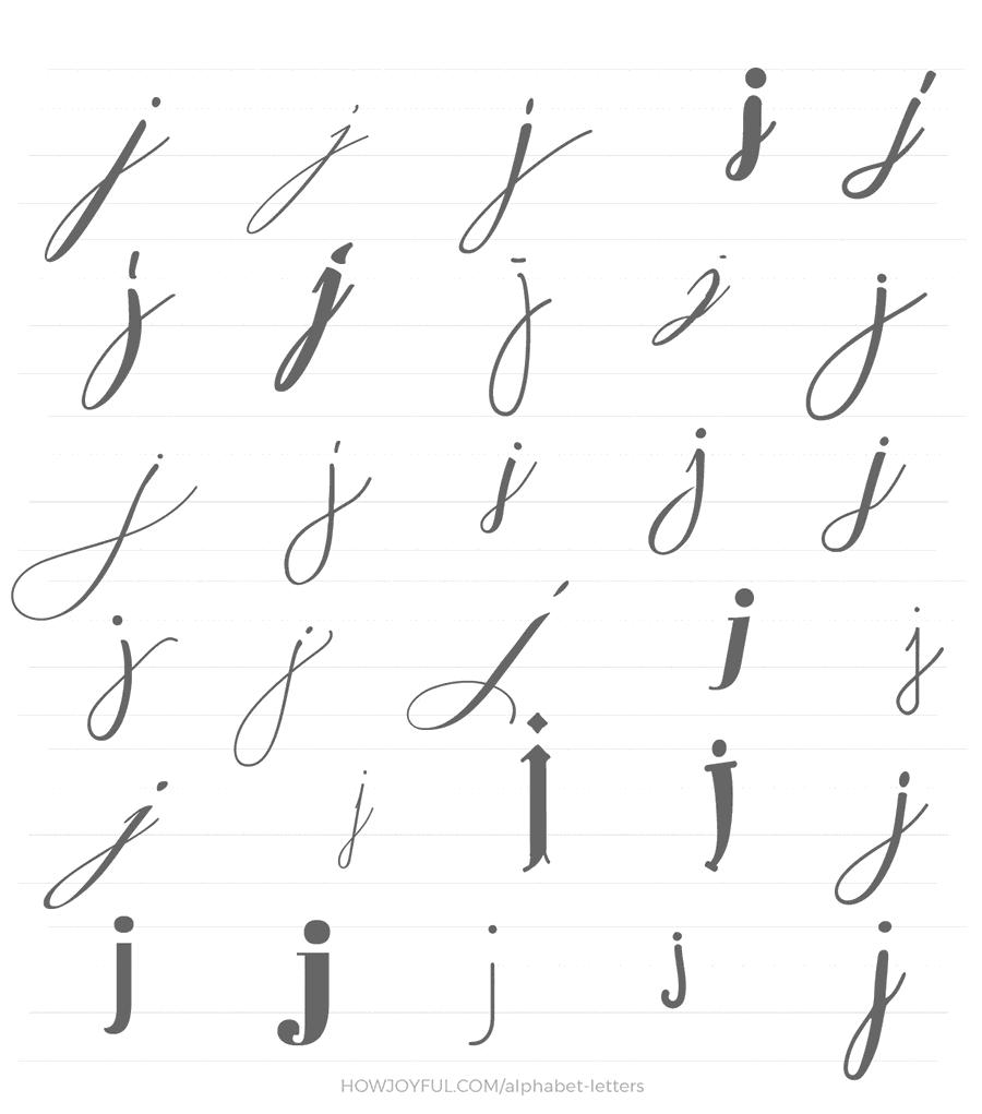 lowercase j 30 ways