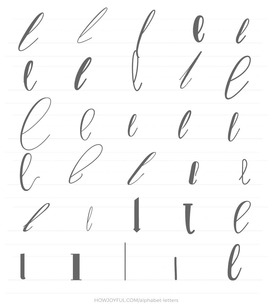 lowercase l 30 ways
