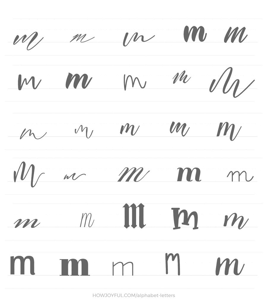 lowercase m 30 ways