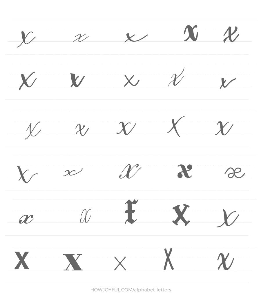 lowercase x 30 ways