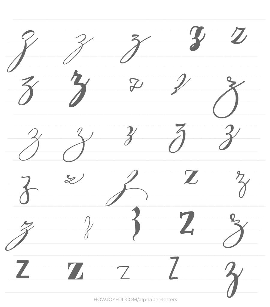 lowercase z 30 ways