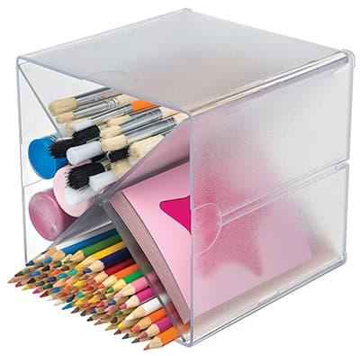 clear horizontal pencil case