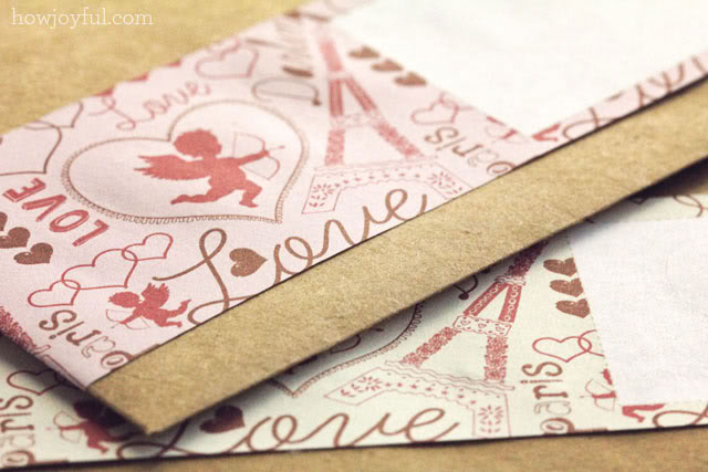 valentaines envelope label