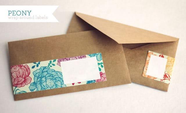 cute envelope label