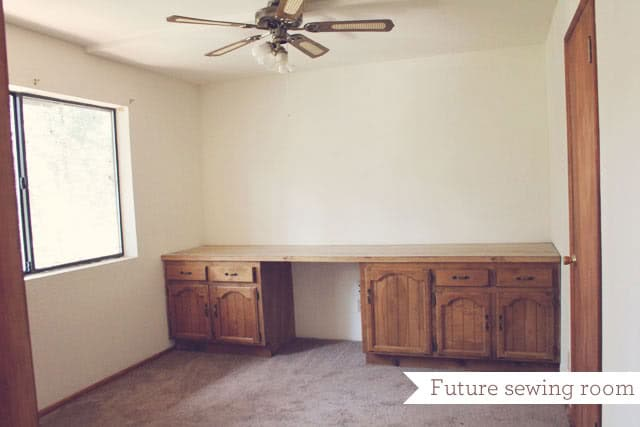 the empty sewing room