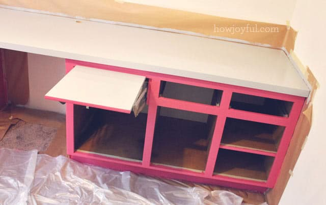 painting the inside of the cabinets
