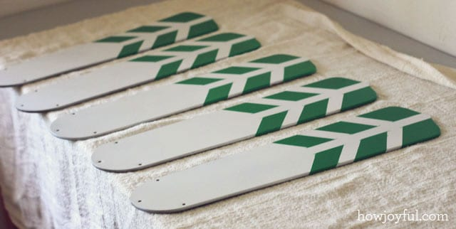 painted fan blades