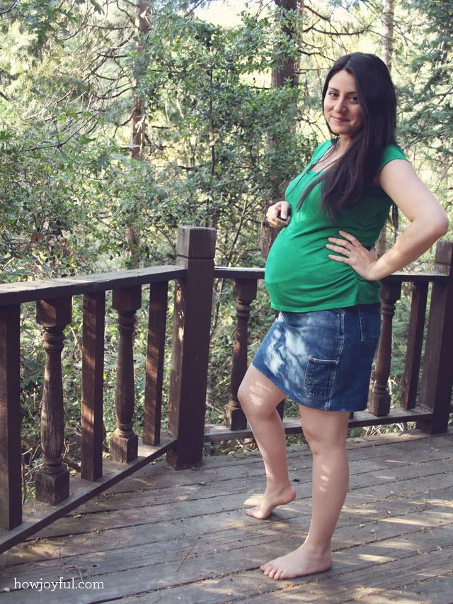 making a skirt for pregnancy