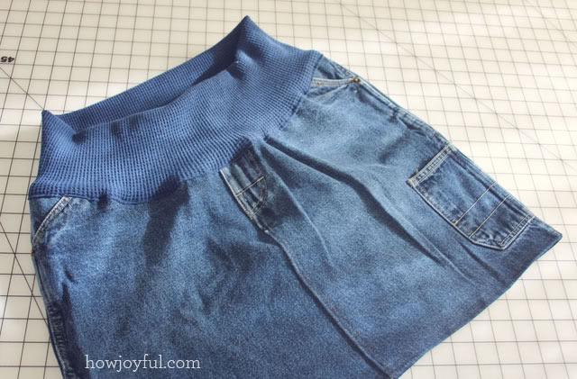 making a maternity skirt final