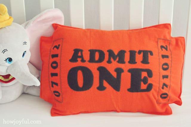 circus pillow for nursery