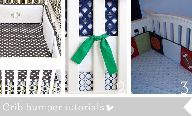 crib bumper tutorials