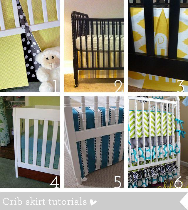 crib skirt tutorials