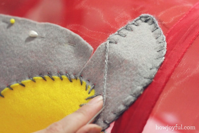 sewing the applique