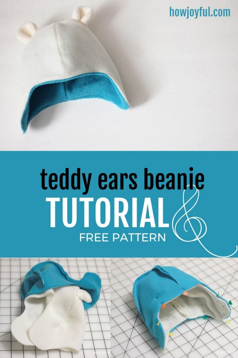 Teddy bear beanie tutorial