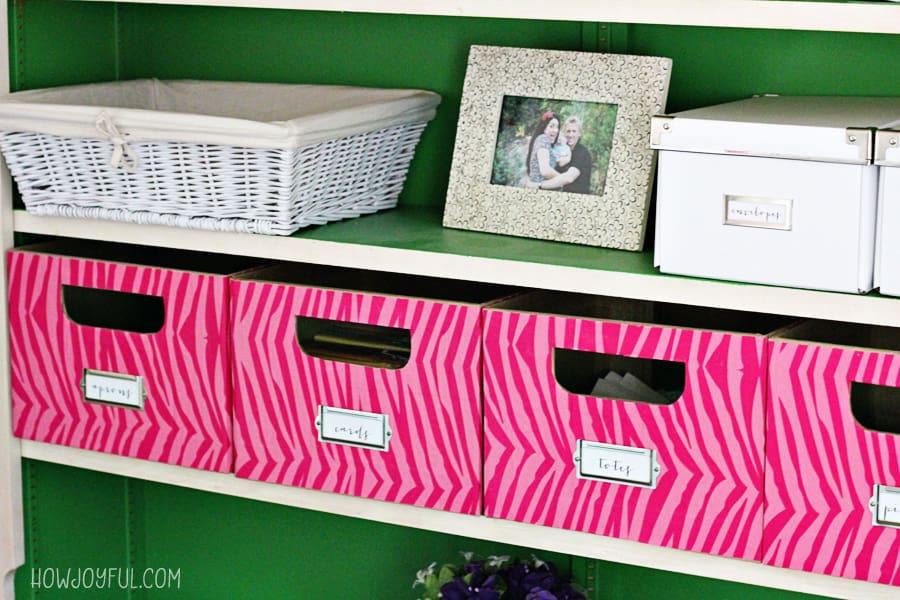Organization boxes customized