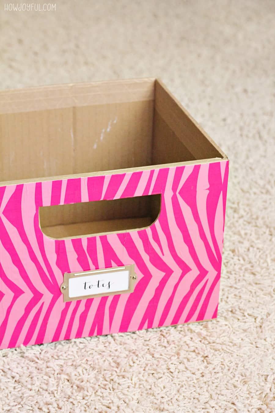 custom boxes organized