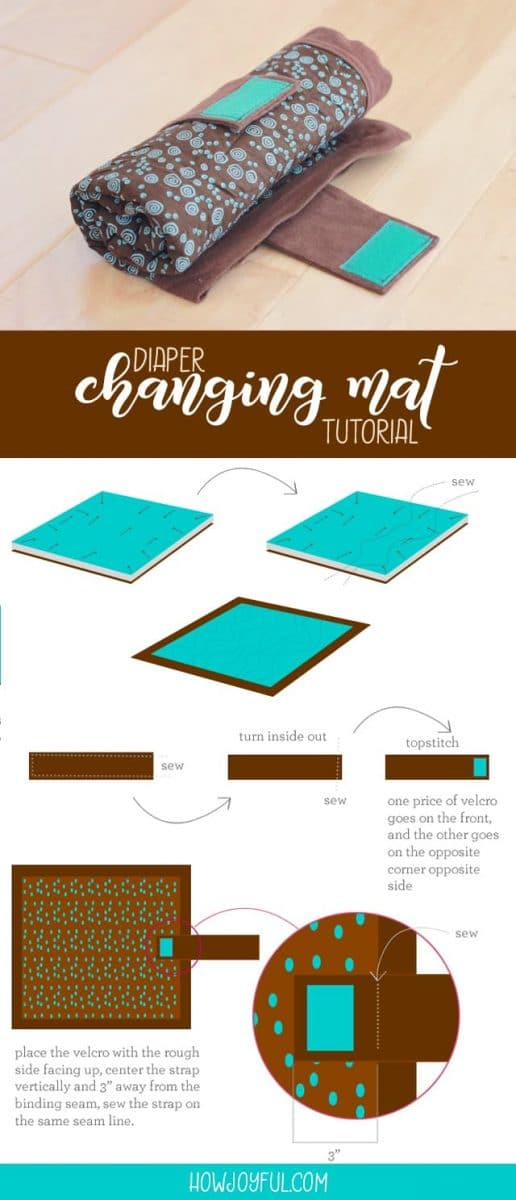 diaper change mat tutorial