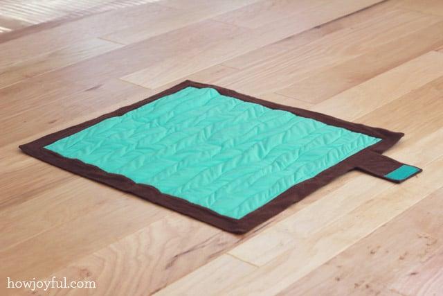 waterproof diaper mat tutorial
