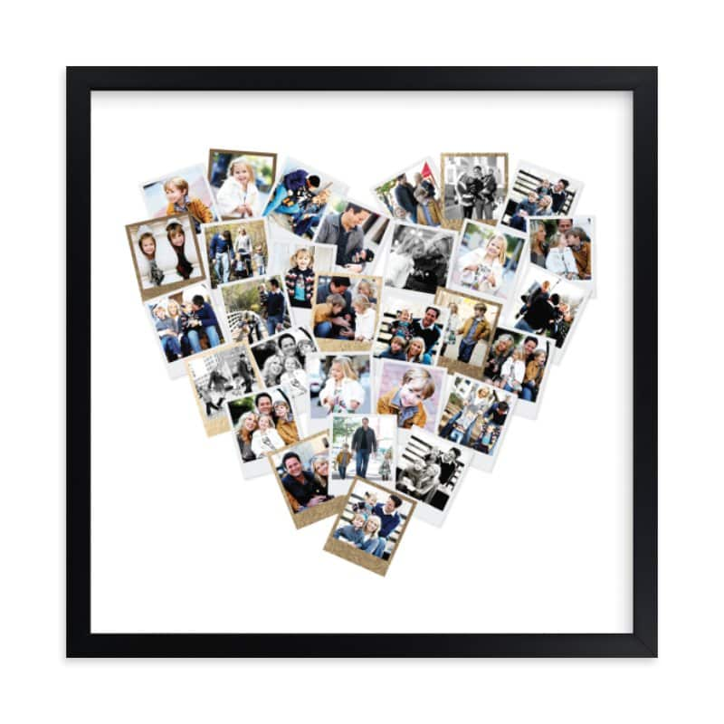 Personalized gold frame