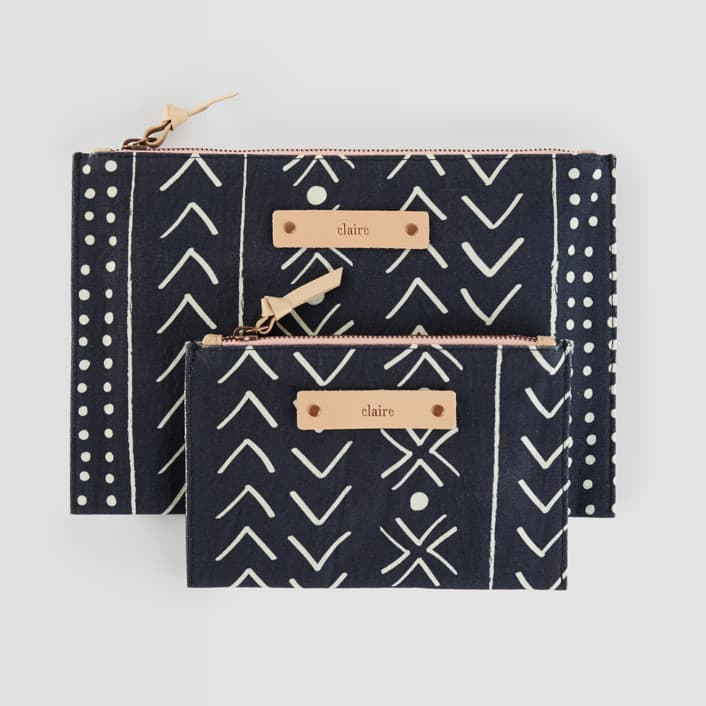 personalized pouch black