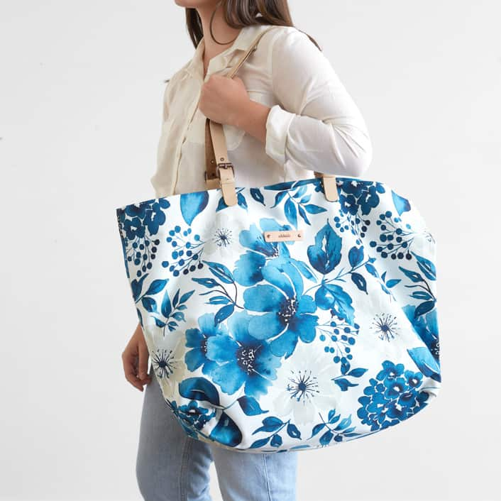 personalized tote floral