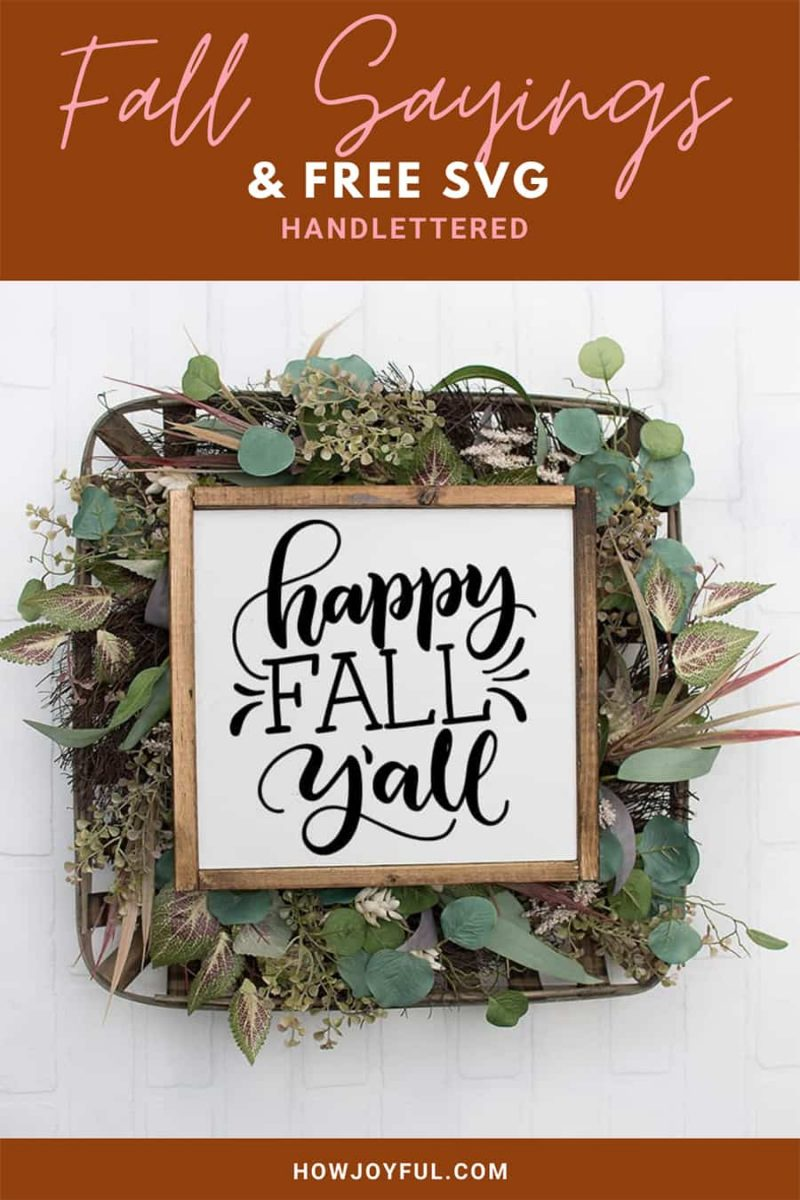happy fall sign free svg