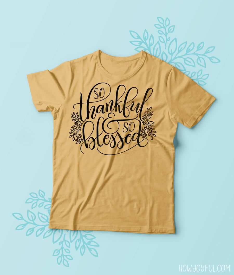 So thankful and so blessed tee shirt mockup