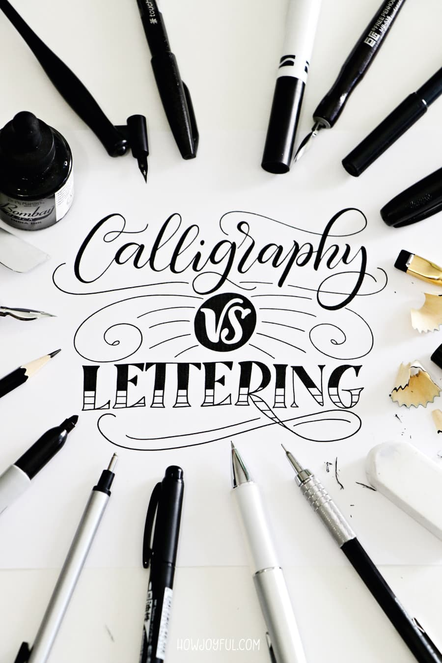 Calligraphy vs lettering
