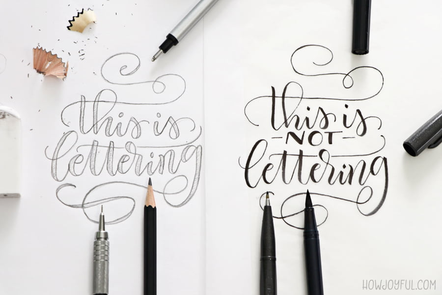 Example of why Brush lettering is a term used incorrectly