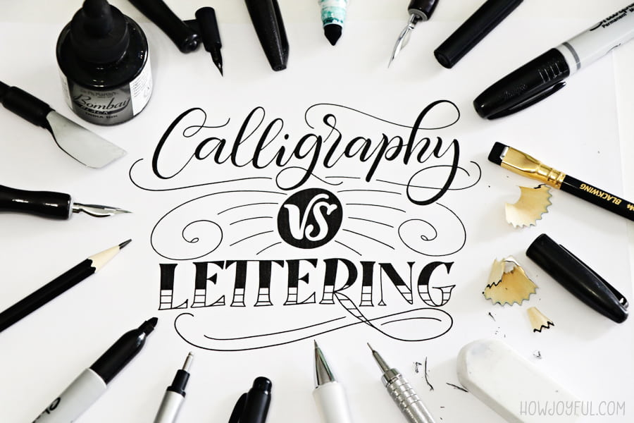 calligraphy vs lettering