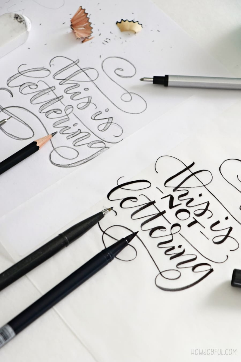 lettering vs calligraphy differences