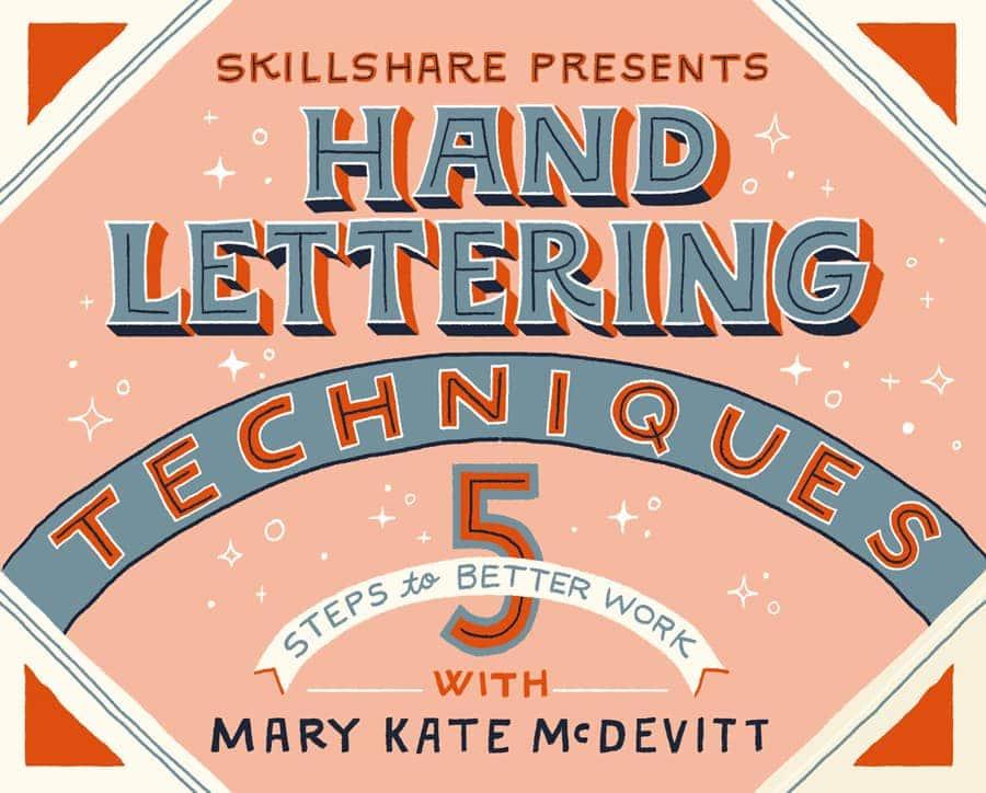hand lettering techniques online class