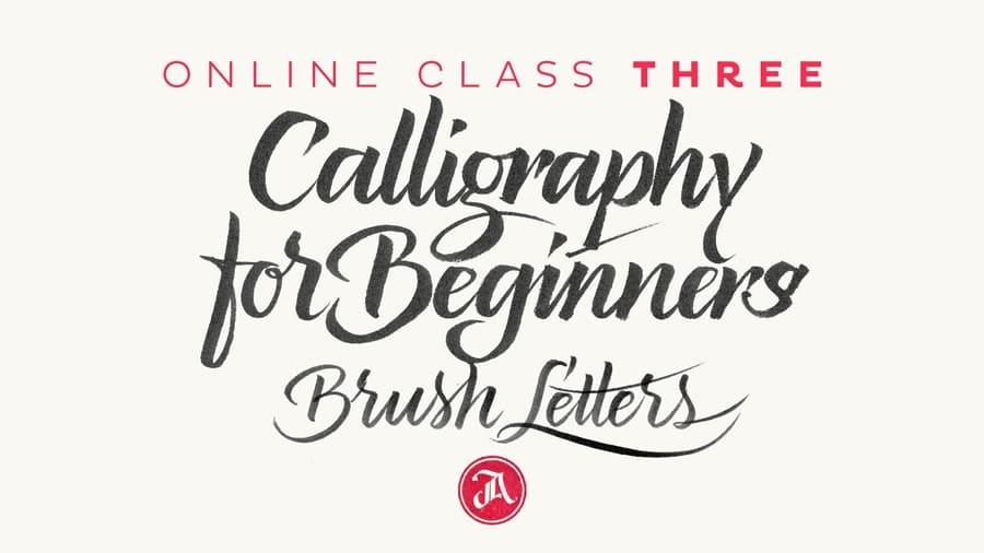 Brush calligraphy class
