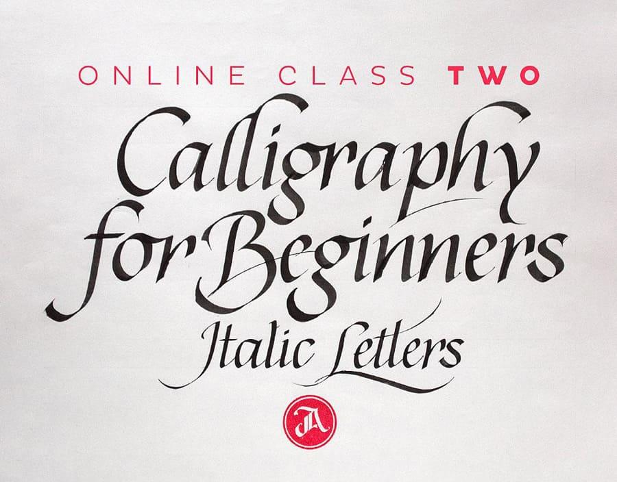Calligraphy italics class