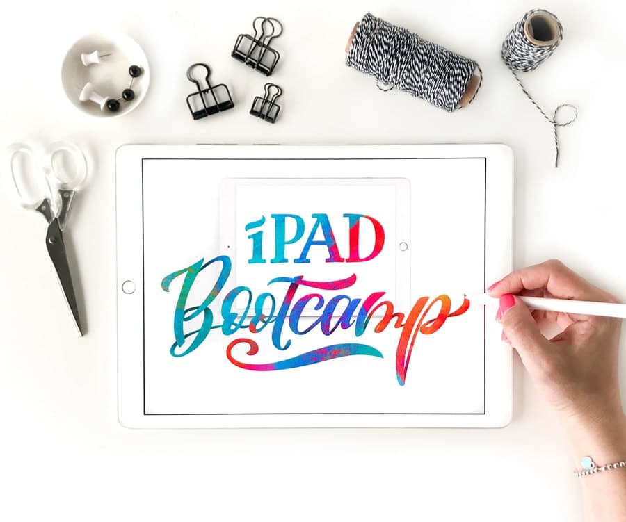 Ipad bootcamp lettering class