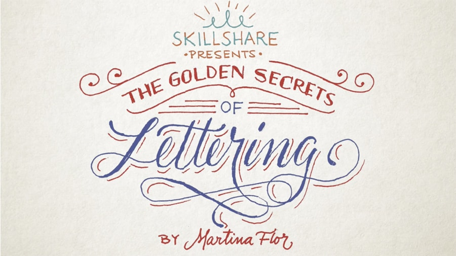 the golden secrets of lettering by Martina Flor class