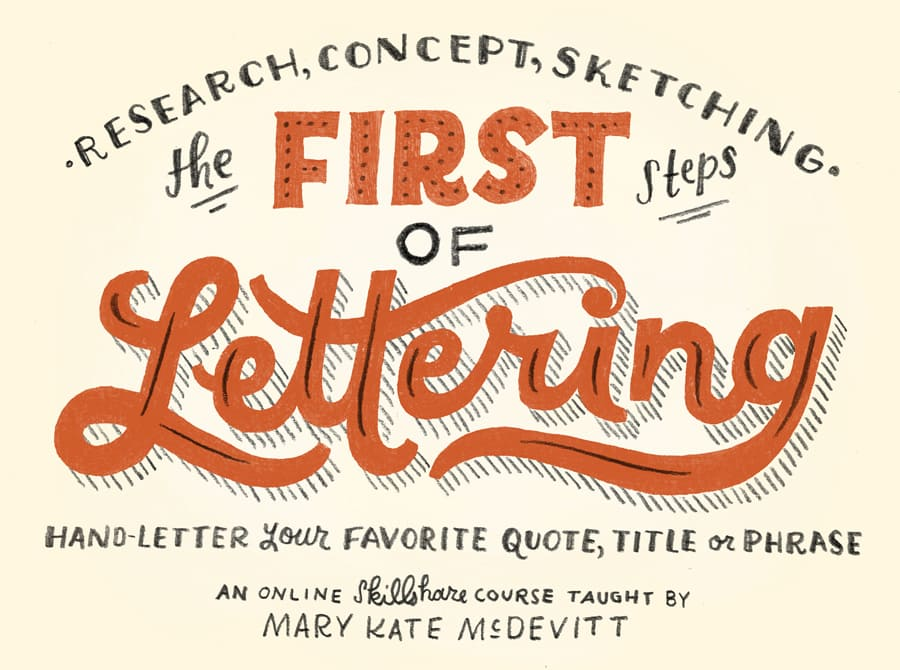 the first steps of hand-lettering class