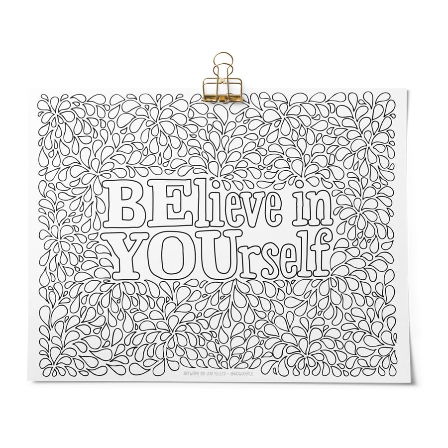 coloring page be yourself