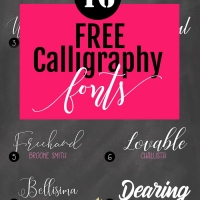 16 of the best FREE calligraphy fonts, check the out at howjoyful.com