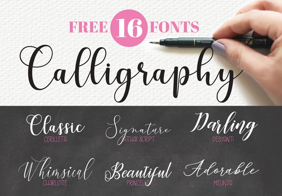 16 beautiful and free calligraphy fonts for your next creative project