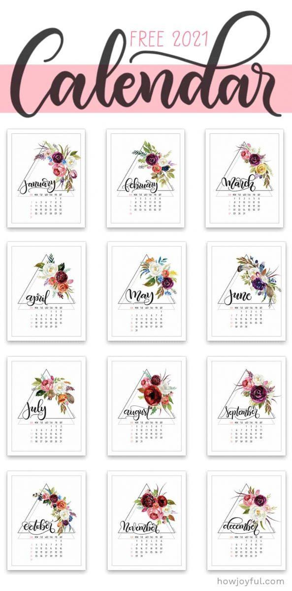 2021 free calendar printable