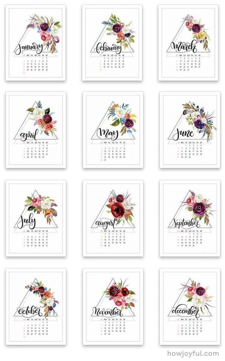 full page calendar