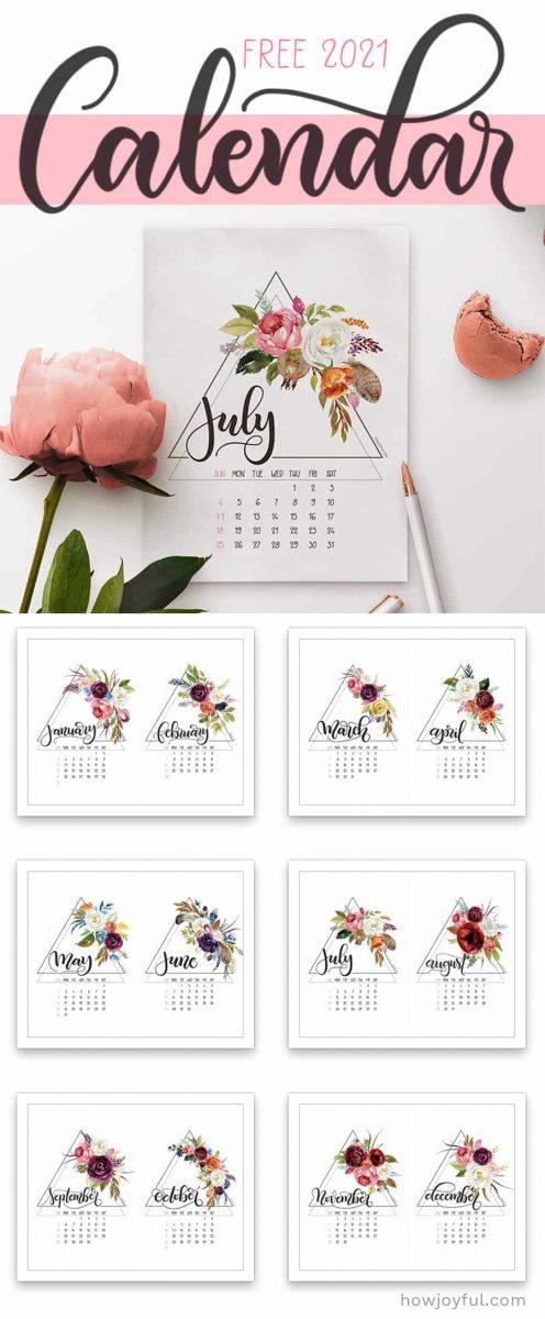 2021 free calendar print