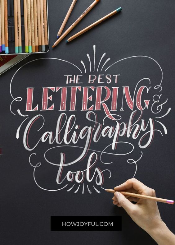 Lettering and calligraphy tools