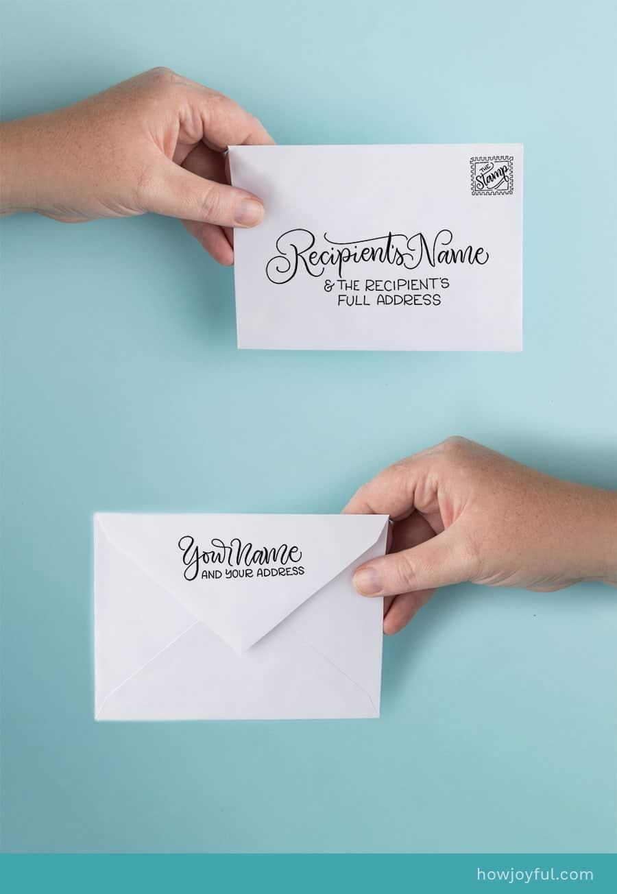correct addressing envelopes