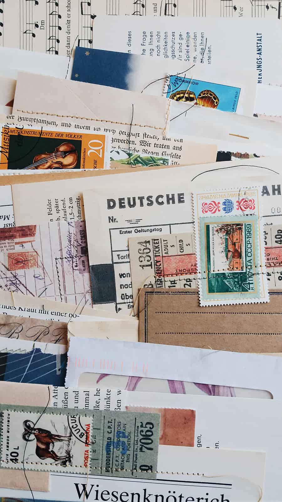 postcard and postage